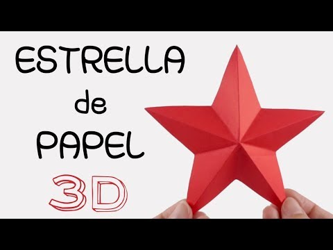 ⭐ESTRELLA de PAPEL⭐ 3D PAPER STAR | DIY