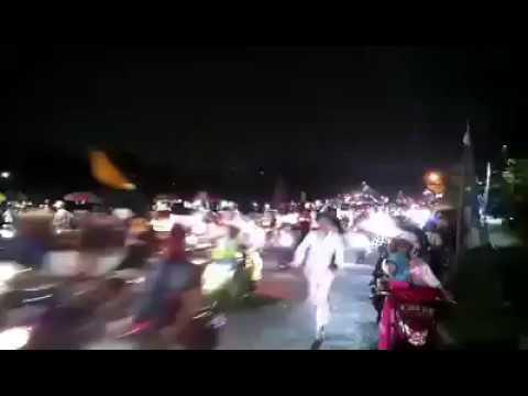 Begini meriahnya pawai obor sambut Ramadan di Depok Minggu 21/5/17 malam