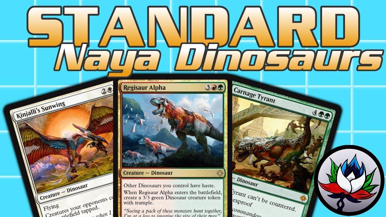 MTG – Naya Dinosaurs Tribal Standard Deck Tech for Magic: The Gathering -  Ixalan!