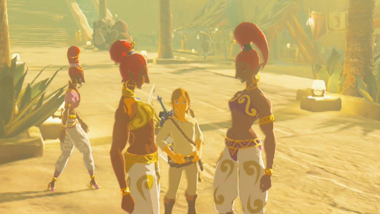 Gerudo Town Breath Of The Wild >> Link Enters Gerudo Town with NO Gerudo Clothes - Zelda Breath of the Wild - YouTube