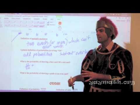"""Statistics - Probability using """"OR"""", and ODDS"""