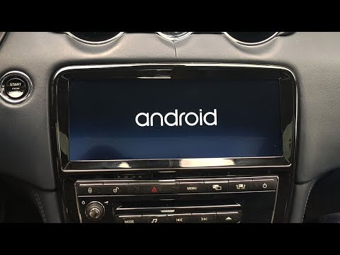 "Jaguar XJ 2010 - 2011 замена монитора 8"" на монитор 10.25 HD Android OS"
