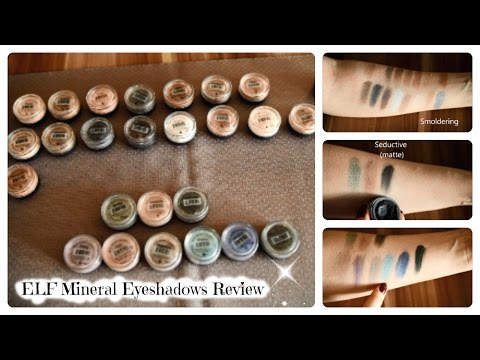 ELF Mineral Eyeshadows - Review & Swatches - 27 Shades