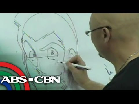 Japanese Anime Artist Teaches Pinoy Street Kids