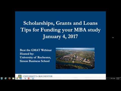 Scholarships, Grants & Loans: Tips for Funding Your MBA - Webinar