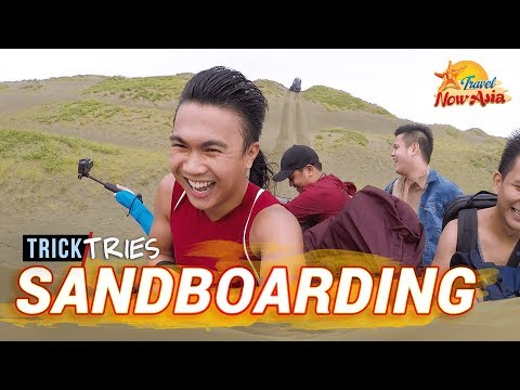 PAOAY SAND DUNES (Ilocos Norte) | Travel with BANINAY | TrickTries 4x4 & Sandboarding | TricksterzPH