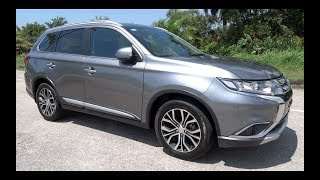 2017 Mitsubishi Outlander 2.4 4WD Start-Up and Full Vehicle Tour