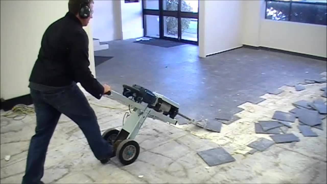 FASTEST WAY TO REMOVE FLOOR TILES - YouTube