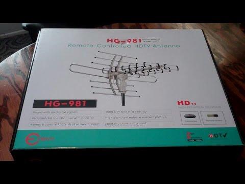 Assembling & Testing a E-Sky HG-981 HDTV Antenna