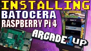 Batocera for Raspberry Pi 4 in Arcade1up!
