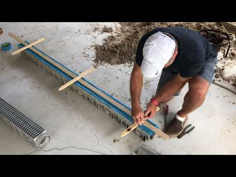 DRAINAGE, how to install CHANNEL DRAIN attaching to gutter pipe.  Source 1 Drainage review.