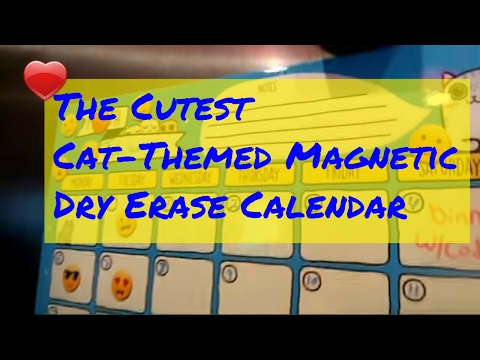 this-magnetic-dry-erase-calendar-is-the-cat's-meow!-😸