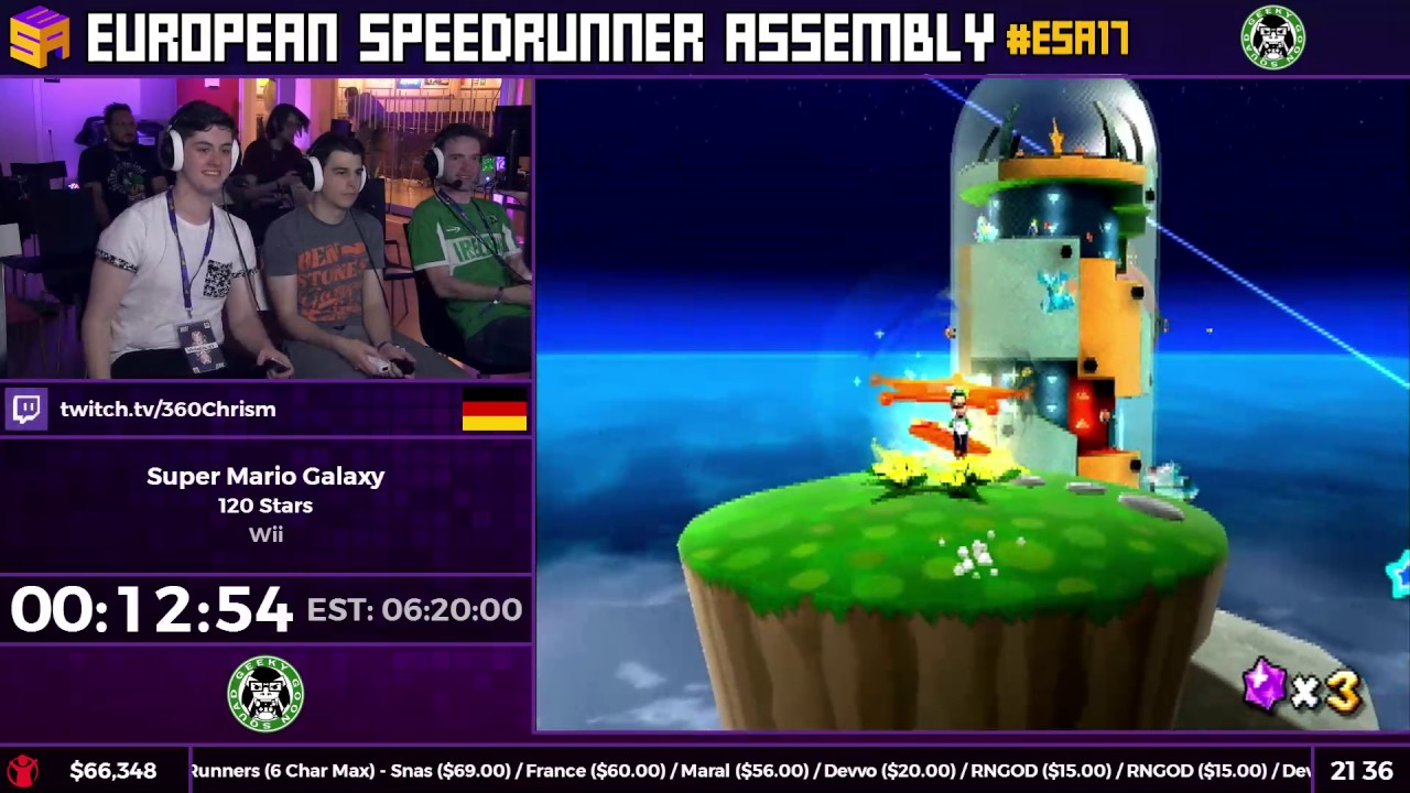 #ESA17 Speedruns - Super Mario Galaxy [120 Stars] by ...