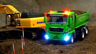 Stunning RC Truck Action! Great Construction-Site! RC Excavator! RC Dozer! Rc Truck! Ehingen thumbnail