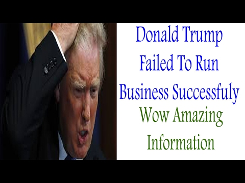 Top 10 Donald Trumps Business Failure | Trump Failed To Run Business Successfully