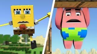 Spongebob In Minecraft Animations - All Episodes (1-4)