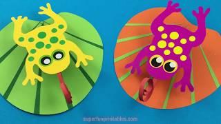 Frog on a lilypad craft