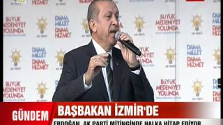 Başbakan Recep Tayyip Erdoğan Ak Parti izmir Mitingi FULL KALİTE 16.03.2014