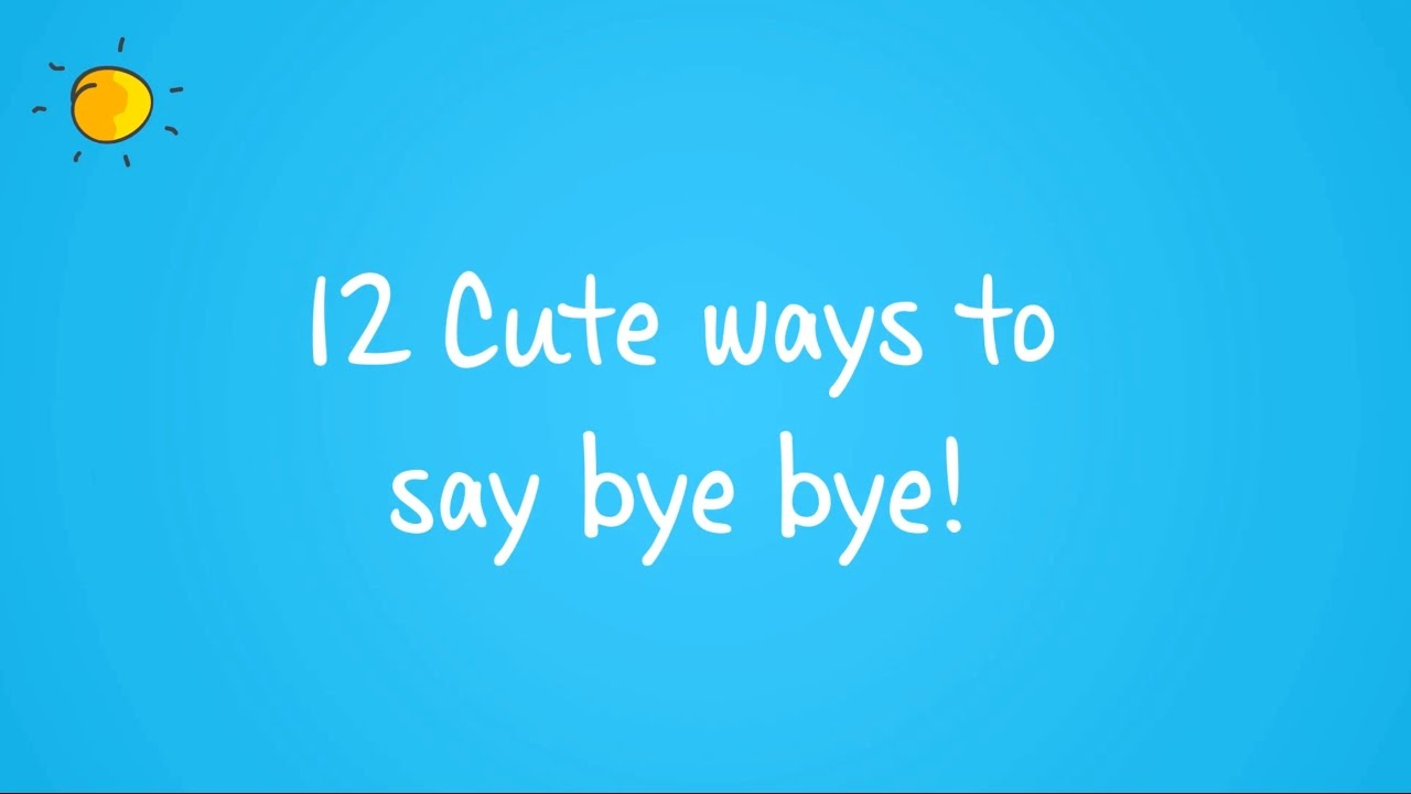 Romantic ways to say goodbye
