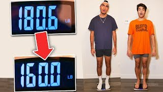 Who Can LOSE The Most Weight in 24 HOURS! OVERNIGHT FOOD CHALLENGE *GONE WRONG*