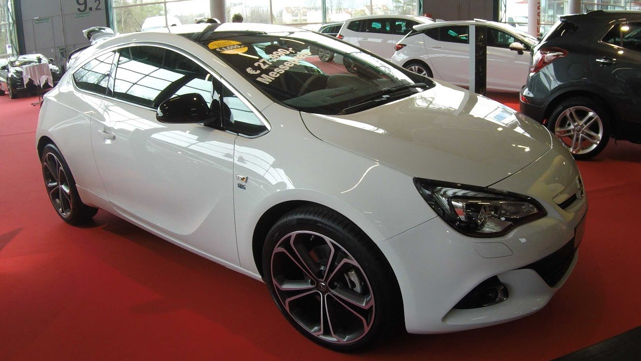 opel astra gtc sport opc line snow white colour walkaround interior model 2017