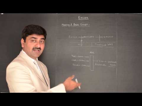 Excise 1 : Excise duty lecture on basic concept