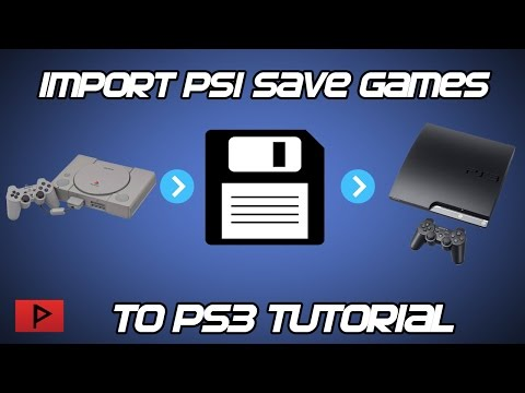 [How To] Import Online PS1 Save Game Files To PS3 Tutorial