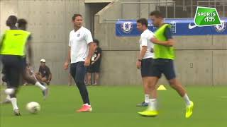 Chelsea Train Ahead Of Friendly Match Against Barcelona | Sports Tak