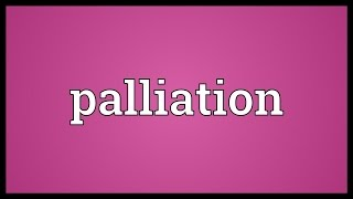 Palliation Meaning