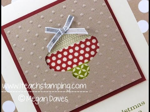discover how to make this easy christmas card using stampin up s