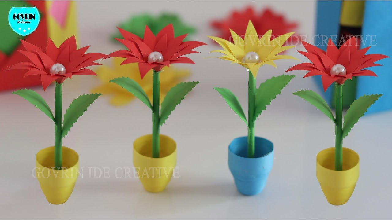How To Make Quilling Miniature 3D Pot With Paper