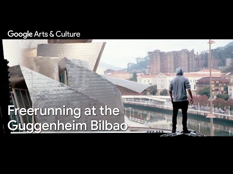 Urban photography: Capturing a freerunner defying gravity | Museum Guggenheim Bilbao | #GoogleArts