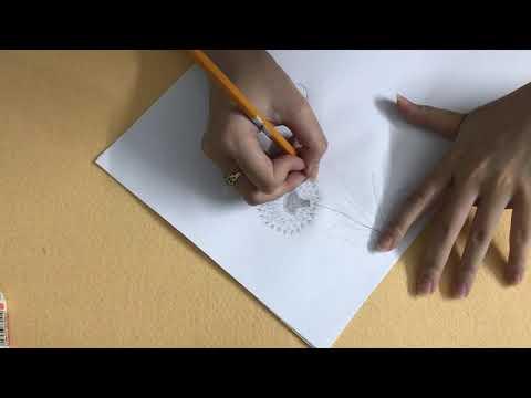 60 Trà Giang Vlog Kỹ thuật vẽ tranh hoa bồ công anh tuyệt đẹp với bút chì để trang trí phòng khách p