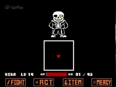 [Undertale] Sans' boss fight - Genocide Run