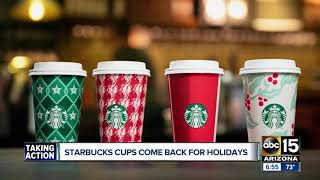 Starbucks to give free reusable cup with purchase of holiday drink