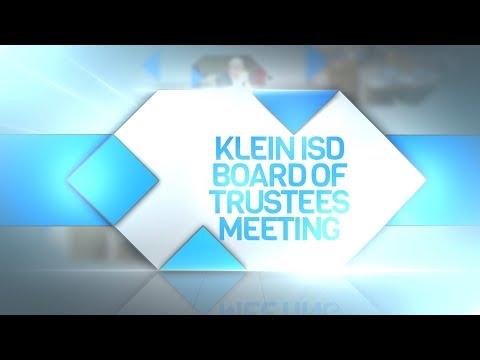 Klein ISD: Board of Trustees Meeting, 02/13/2017