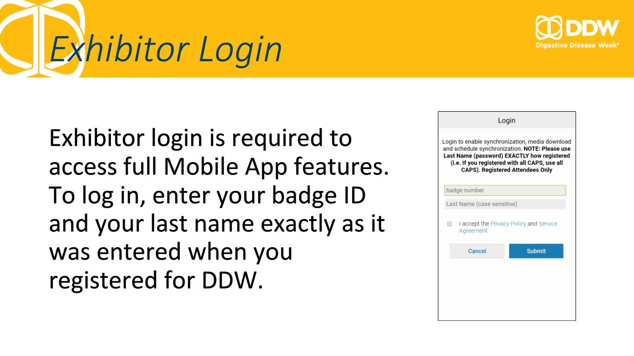 How to Access Exhibitor Content Using the DDW Mobile App