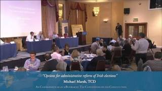 Options for administrative reform of Irish elections - Convention on the Constitution (8/6/13)