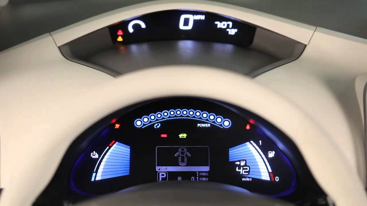 2014 Nissan Leaf Warning And Indicator Lights Youtube