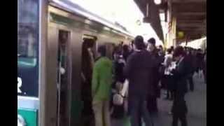 【Saikyo Line】Japanese Train Station Morning Rush Hour Tokyo