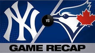 Tanaka's 8-inning gem leads Yankees to win | Game Highlights Yankees-Blue Jays 8/11/19