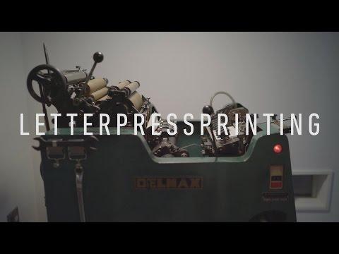 Letterpress Printing   DELMAX  albatro design 活版印刷機