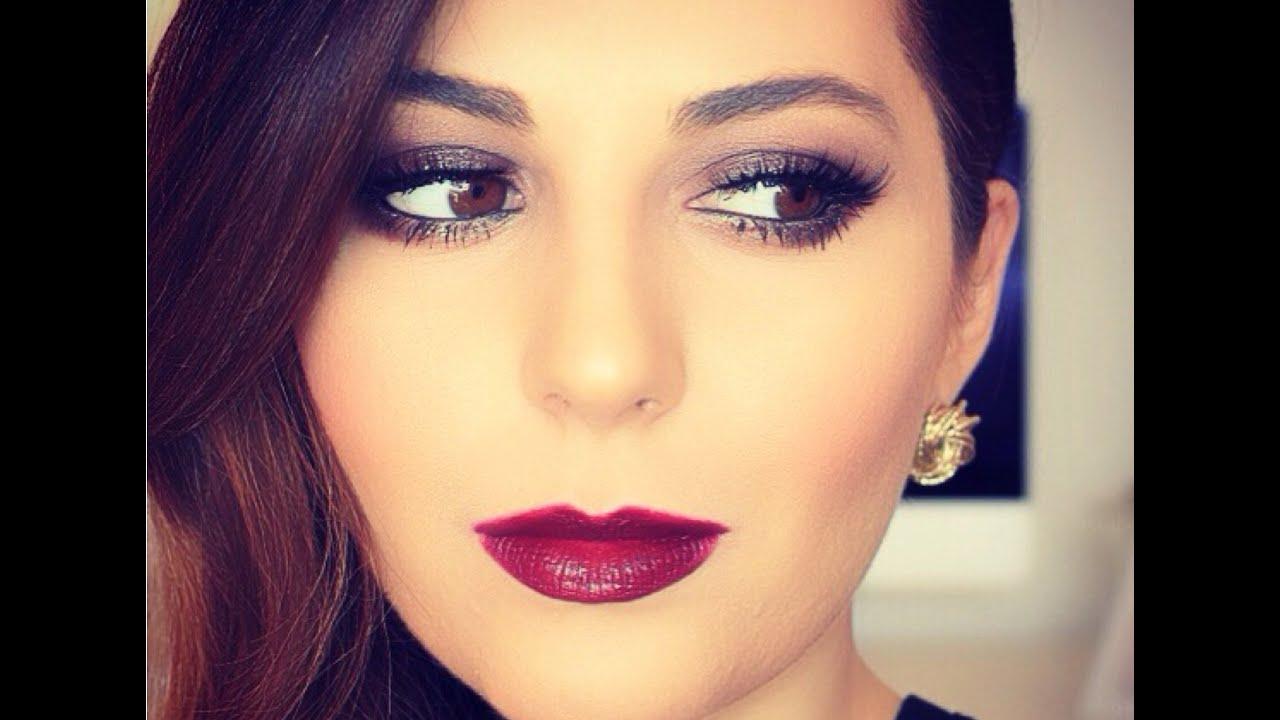 Holiday Inspired Makeup Tutorial   Sona Gasparian - YouTube
