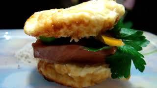 Диета белковая - гамбургер с семгой