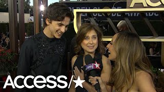 Timothée Chalamet Gets Flustered When Asked About Lily-Rose Depp At The Globes! | Access