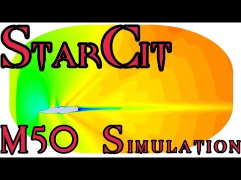 [Star Citizen] Aerodynamic Visualization | M50 Interceptor | Process & Results! [60fps]