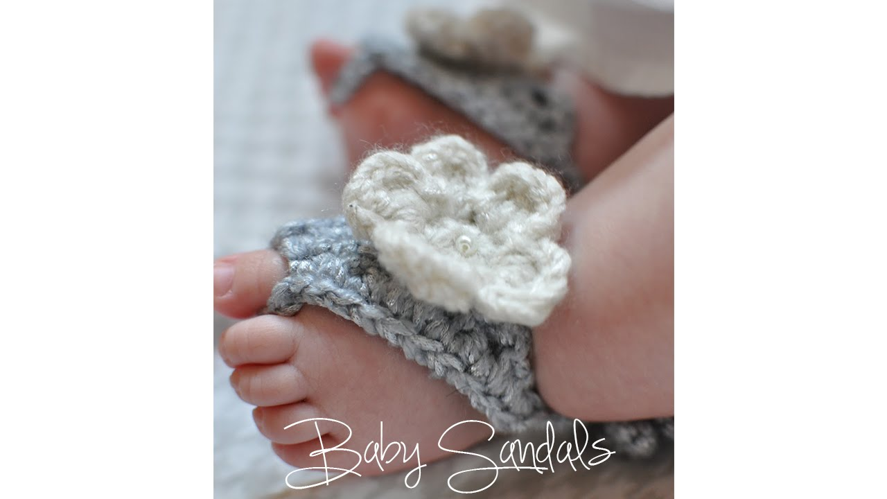 bc63a73ec CROCHET TUTORIAL- BABY SANDALS - YouTube
