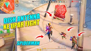 Dish TV Antenna Ke Upar Fight - Insane Solo vs Duo Game OP Headshots | Garena Free Fire - P.K.GAMERS