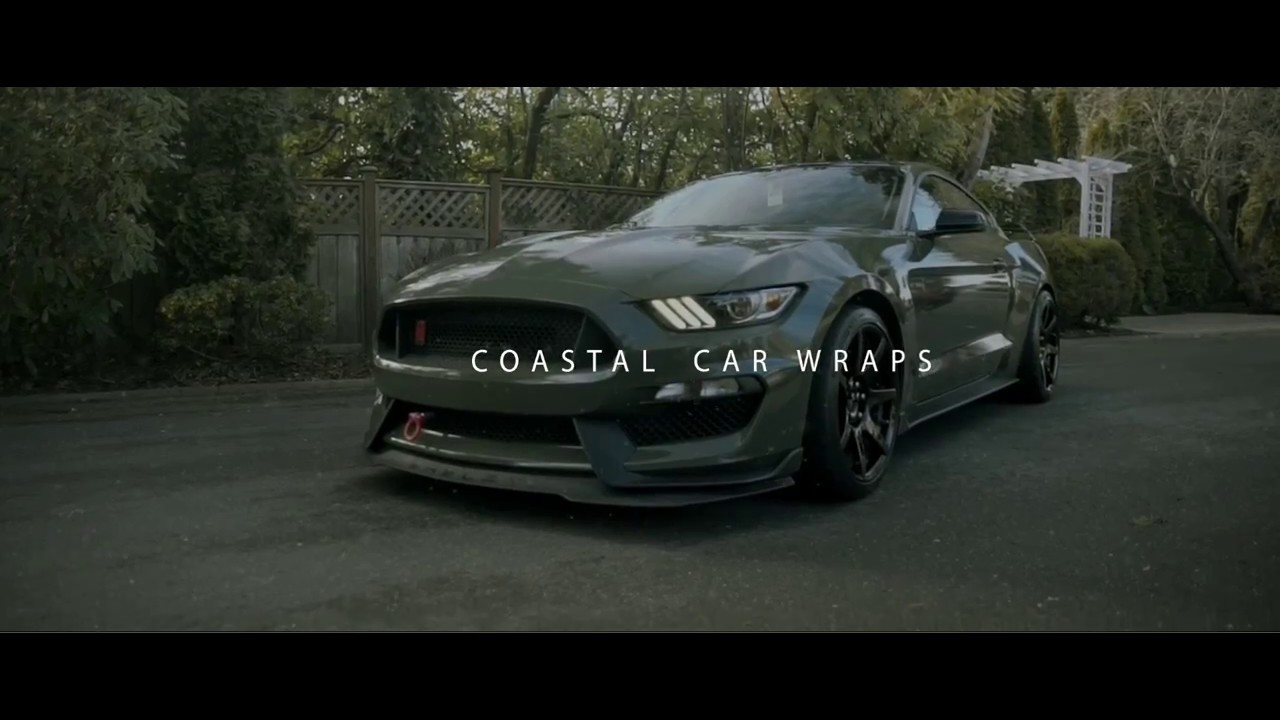 2016 Gt350 Gloss Military Green Wrap Youtube