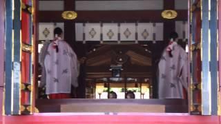 塩釜神社結婚式巫女さん